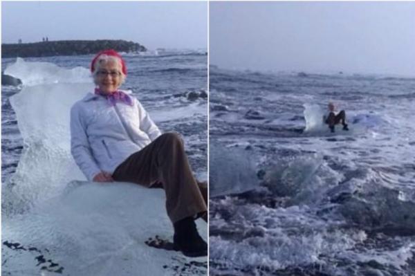 Королева, потерявшая трон: бабушку отнесло на льдине в открытое море во время фотосессии